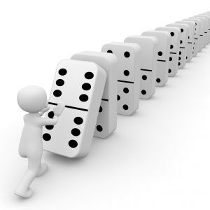 Your problems fall away like dominoes.